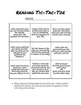 Reading Tic Tac Toe