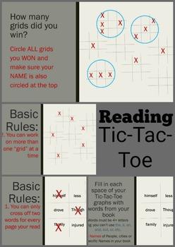 Reading Tic Tac Toe Game