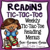 Reading Tic Tac Toe Menu-Story Elements Edition