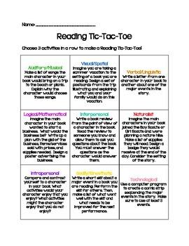 Reading TicTacToe