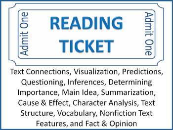 Reading Ticket -Reading Comprehension Skills & Strategies