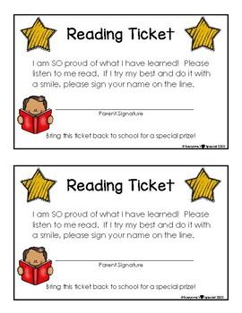 Reading Ticket Reward