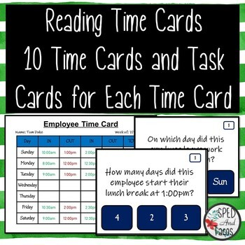 Reading Time Cards