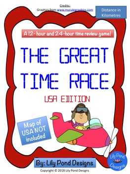 Reading Time Review Game - The Great North American Time Race Bundle
