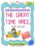 Reading Time Review Game - The Great Time Race - Asia Edition (in MILES)