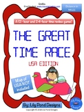 Reading Time Review Game - The Great Time Race (USA - in Miles)