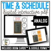 Reading Time & Schedules ANALOG CLOCK Digital Activities