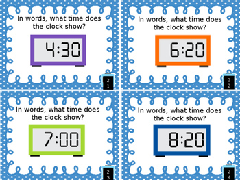 Reading Time with Digital Clocks Task Cards