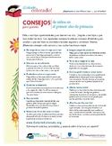 Reading Tip Sheets / Letters for Parents in Spanish (Colorin Colorado / AFT)