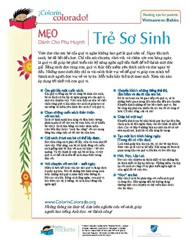 Reading Tip Sheets / Letters for Parents in Vietnamese (Colorin Colorado / AFT)