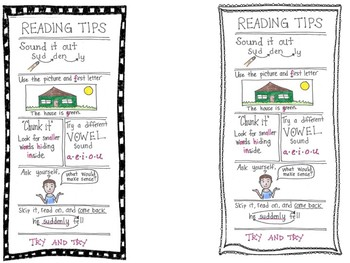 Bookmarks with Reading Tips!