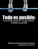 Reading: Todo es posible, the story of Jennifer Bricker