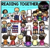 Reading Together Clip Art Bundle {Educlips Clipart}