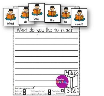 Reading Together Scrambled Sentence Cards With Cut and Paste Worksheets