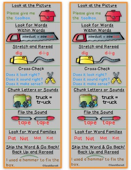 Reading Strategies Cards for Students