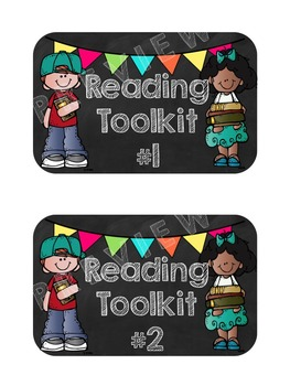 Reading Toolkit Covers: Labels to Help Organize Reading Materials