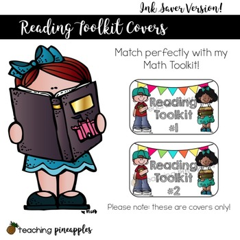 Reading Toolkit Covers: Labels to Help Organize Reading Materials, Ink Saver!