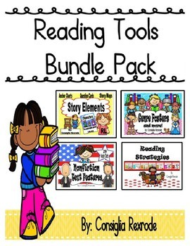 Reading Tools Bundle Pack (Story Elements, Genres, NF Text Features, Strategies)
