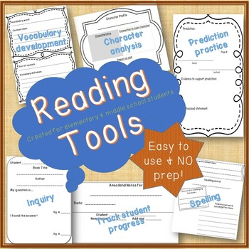 Reading Tools...Spelling & Vocabulary, Predictions, Inquir