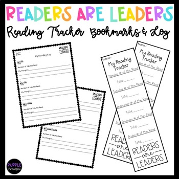 Readers are Leaders - Reading Tracker Bookmarks