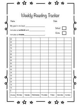 Reading Tracker  and  Reflection Worksheet