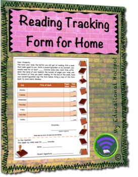 Reading Tracking Form for Home Template