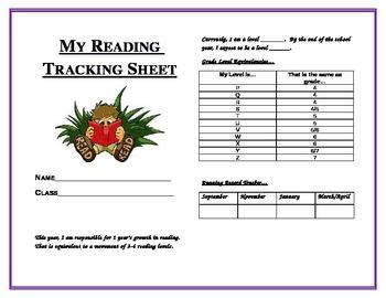Reading Tracking Sheet