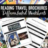 Reading Travel Brochures Life Skills Worksheets {Cut & Paste}