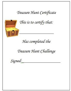 Reading Treasure Hunt Game