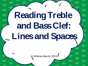 Reading Treble and Bass Clef: Lines and Spaces - Teaching Aid with Animations