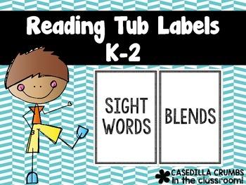 Reading Tub Labels