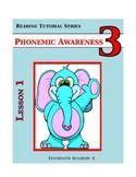 Reading Tutorial Series:Phonemic Awareness Grade 3 (Teacher Workbook)
