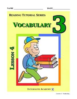 Reading Tutorial Series:Vocabulary Grade 3 (Student Workbook)