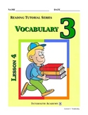Reading Tutorial Series:Vocabulary Grade 3 (Teacher Workbook)
