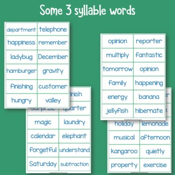 Reading Two and Three Syllable Words