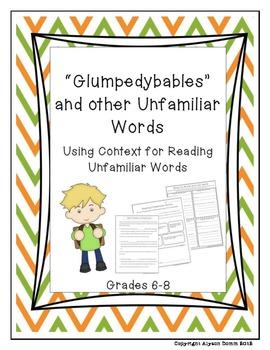 Reading Unfamiliar Words Bundle