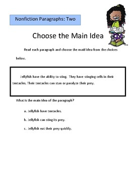 Reading Unit: Main Idea- Fiction and Nonfiction