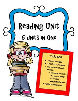 Reading Units Bundle: 6 Units in One