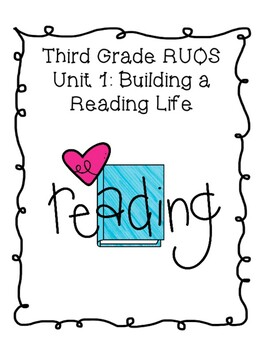 Reading Units of Study Binder Covers for Third Grade