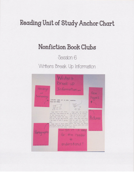 Reading Units of Study If...Then Unit Nonfiction Book Clubs Anchor Chart 2