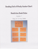 Reading Units of Study If...Then Unit Nonfiction Book Clubs Anchor Chart 3