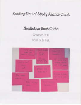 Reading Units of Study If...Then Unit Nonfiction Book Clubs Anchor Chart 4