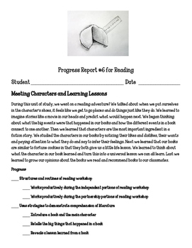 Reading Units of Study Meeting Characters and Learning Lessons
