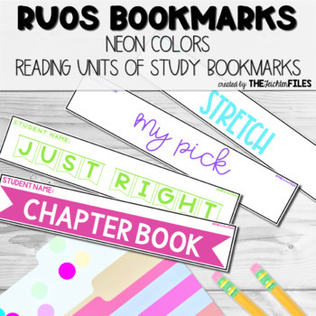 Reading Units of Study (RUOS) Bookmarks (Lucy Calkins Reading Workshop) Color