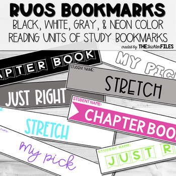 Reading Units of Study (RUOS) Bookmarks (Lucy Calkins Reading Workshop) BUNDLE