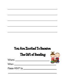 Reading Units of Study Readers Get to Know Characters celebration invitation