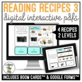 Reading Visual Recipes 3 Digital Interactive Activity