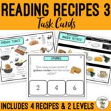 Reading Visual Recipes 3 Task Cards