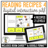 Reading Visual Recipes 4 Digital Interactive Activity