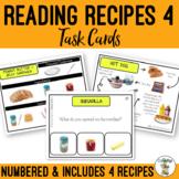 Reading Visual Recipes 4 Task Cards